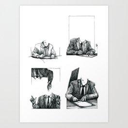 Suits Art Print