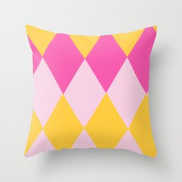 pretty diamond pattern Throw Pillow