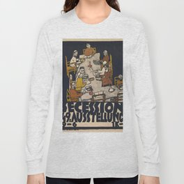 """Egon Schiele """"Secession 49. Exhibition"""" Long Sleeve T-shirt"""