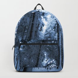 Snowy Winter Trees - Forest Nature Photography Backpack