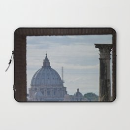 Saint Peter's Basilica framed by Domus Augustea Laptop Sleeve