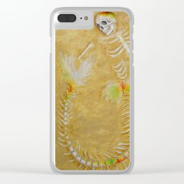 Opalized Mermaid fossil Clear iPhone Case