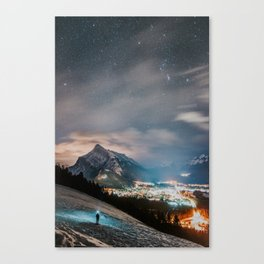 Banff at night Canvas Print
