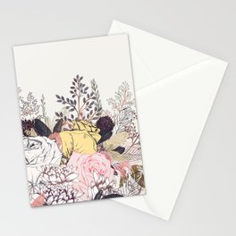 Miles and miles of rose garden. Retro floral pattern in vintag style Stationery Cards