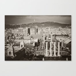Barcelona: From Montjuic Canvas Print