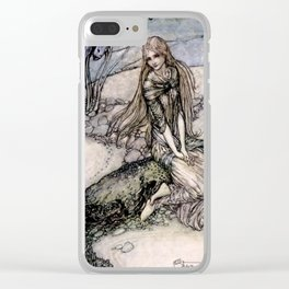 "Arthur Rackham Fairy Art from ""Undine"" Clear iPhone Case"