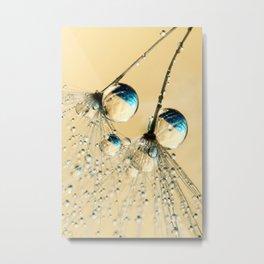Duo Shower Dandy Drops Metal Print