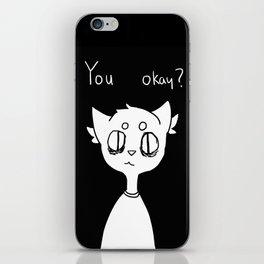 you okay ? iPhone Skin