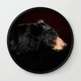 Young Black Bear Portrait Wall Clock
