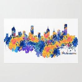 Melbourne Watercolor Skyline Rug