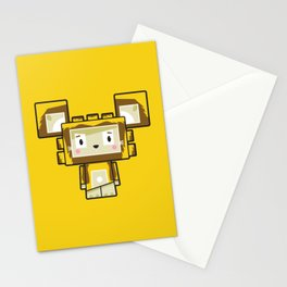 Cute Cartoon Blockimals Lion Stationery Cards