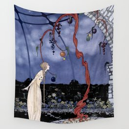 """""""Rosalie's Tree"""" by Fairy Artist Virginia Sterrett Wall Tapestry"""