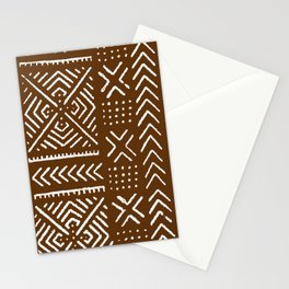 Line Mud Cloth // Brown Stationery Cards