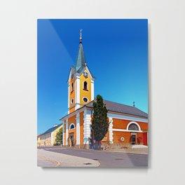 The village church of Alberndorf in der Riedmark 2 Metal Print