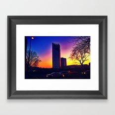 Sunset-The Razor Framed Art Print