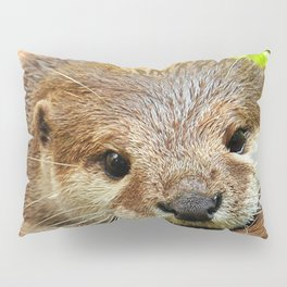 brown baby otter Pillow Sham