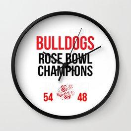 Bulldogs Rose Bowl Champions Shirt (Score Shirt)- 2018 Georgia Wall Clock