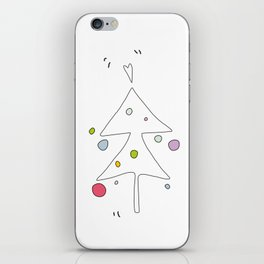 Cute Graphic Christmas Tree iPhone Skin