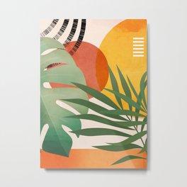 Tropical Garden Leaves 04 Metal Print