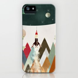 living on the moon iPhone Case