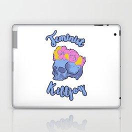 Feminist Killjoy Print with Flower Crown Skull Laptop & iPad Skin