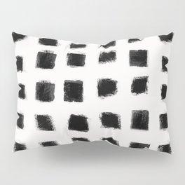Polka Strokes - Black on Off White Pillow Sham