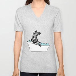 Bathtub zebra Unisex V-Neck