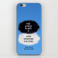 tfios iPhone & iPod Skins featuring TFIOS Quote #3 by Jerry Maestas