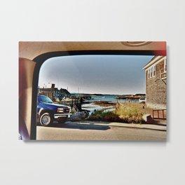 Maine Window Metal Print