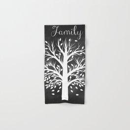Family Tree Black and White Hand & Bath Towel