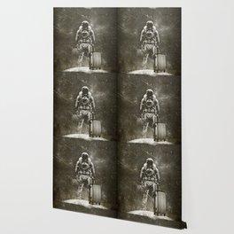 Space Traveller sepia Wallpaper