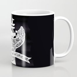 A Ship is Safe in Harbor in Black and White Coffee Mug