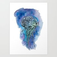 Bright, colourful, wonderful, sparkle jellyfish Art Print