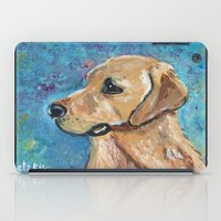 lab iPad Cases featuring Yellow Lab by gretzky