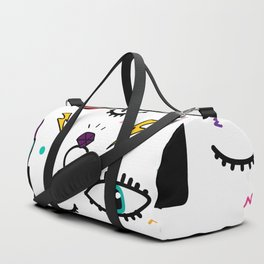 Abstract Eye and Cosmetics Duffle Bag