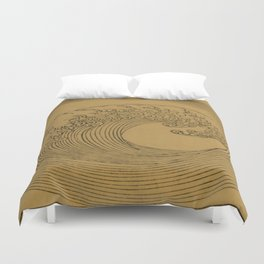 Vintage Golden Wave Duvet Cover