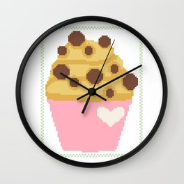 Chocolate chip muffin Wall Clock