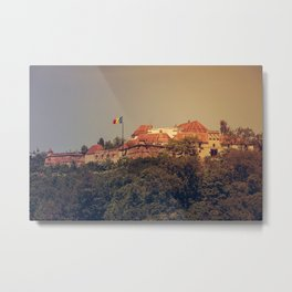 The Medieval Fortess of Brasov Metal Print