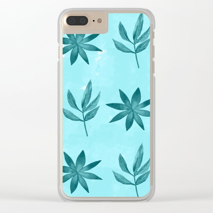 Colorful Leaves IX Clear iPhone Case