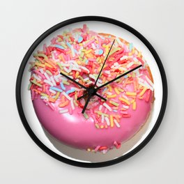 Craving Krispy Cremes Pink Wall Clock