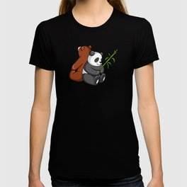 Grizzly Bear And Panda Bear Together T-shirt