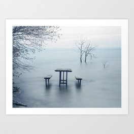 West Point, Sandbanks Art Print