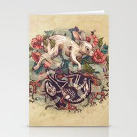 bunny Stationery Cards featuring Dust Bunny by Kate O'Hara