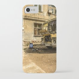 Old Yellow Bus House iPhone Case