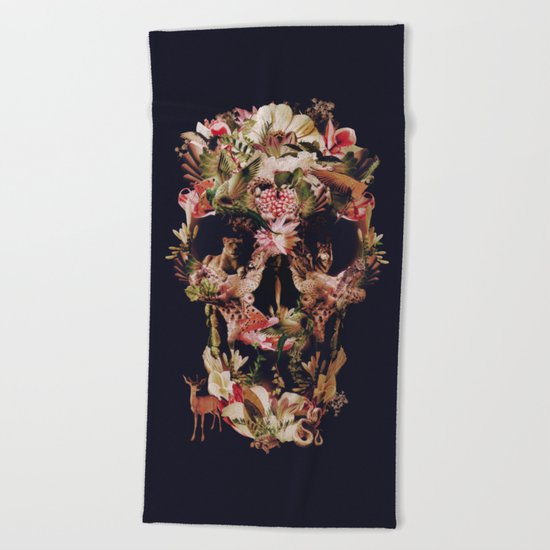 Jungle Skull Beach Towel