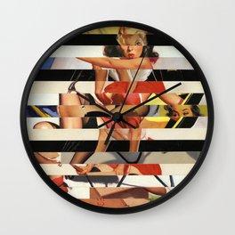 Glitch Pin-Up Redux: Lindsey Wall Clock
