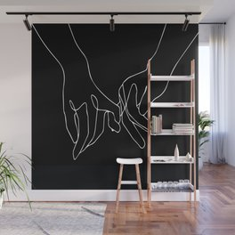 Pinky Promise Hand print Wall Mural