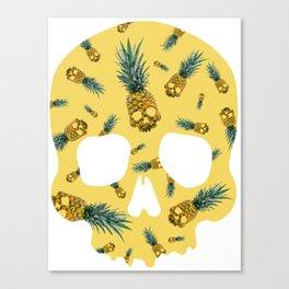Skull Pineapple Y Canvas Print