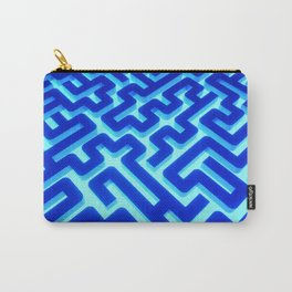Maze Blue Carry-All Pouch