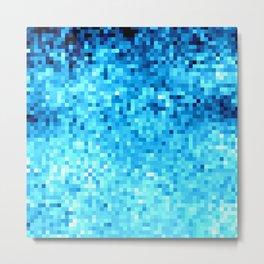 TurquoisE Pixels Metal Print